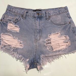 Forever 21 Distressed Jean Shorts 27